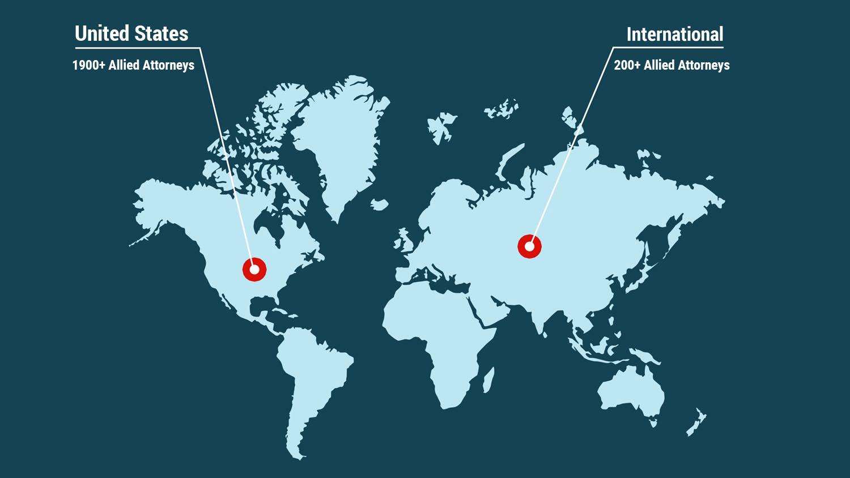 Allied Attorneys Map