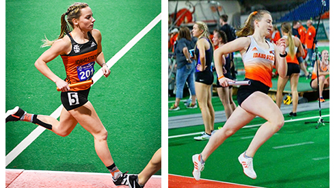 Madison Kenyon (left) and Mary Kate Marshall (right) of Idaho State University