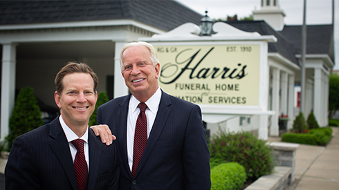 Tom and Matthew Rost of Harris Funeral Homes