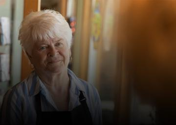Barronelle Stutzman at her business, Arlene's Flowers in Richland, Washington.
