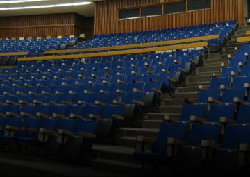 A university lecture hall.