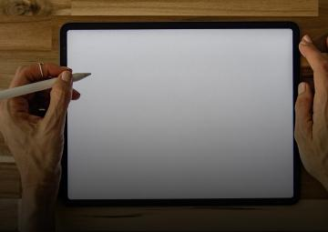 Drawing on a tablet