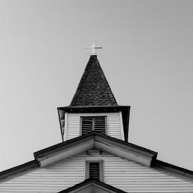Church in black-and-white